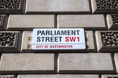Parliament Street in London Stock Image