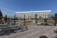 The parliament (Supreme Council) of the Kyrgyz Republic. Bishkek stock images