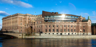 Parliament of Sweden Royalty Free Stock Photo