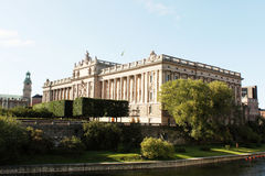 Parliament of Sweden. On Helgeandsholmen island royalty free stock photography