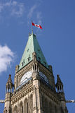 Parliament tower. Canadian Parliament Peace Tower in Ottawa Stock Photography