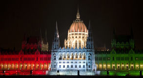 Parliament in tricolor Stock Photography