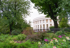Parliament of Ukraine (Verkhovna Rada) in Kiev, Ukraine in green Royalty Free Stock Photography