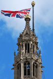 Parliament with union flag flying Stock Images