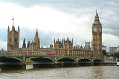 Parliament and Westminster bridge Stock Photography