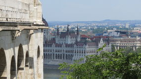 Parliamentary Building. The Parliamentary building in Budapest, Hungary. It sits on the shore of the Danube River Royalty Free Stock Photo