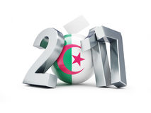 Parliamentary elections in Algeria on a white background 3D illustration. Parliamentary elections in Algeria on a white background stock illustration