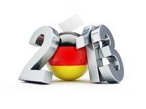 Parliamentary elections in Germany 2013. 3d Illustrations on a white background Vector Illustration