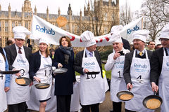 Parliamentary Pancake Race. Stock Photos