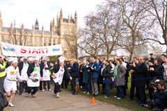 Parliamentary Pancake Race. Stock Photo