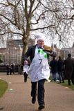Parliamentary Pancake Race. Royalty Free Stock Photo