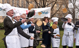 Parliamentary Pancake Race. Royalty Free Stock Images