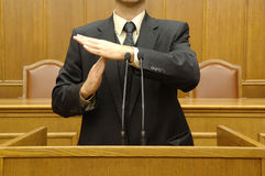 Parliamentary speech Stock Photos