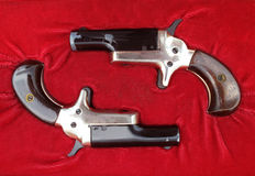 Parlor pistols Royalty Free Stock Photography