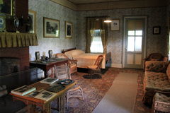 Parlor where Ulysses S Grant drew his last breath,Grant Cottage,New York,2014 Royalty Free Stock Photos