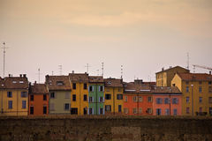 Parma. Colorful houses in Parma, Italy royalty free stock photography
