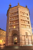 Parma Baptistery at night Stock Photo