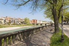 Parma - brzeg rzeki Parma rzeka obraz stock