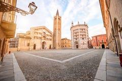 Parma central square Stock Photos