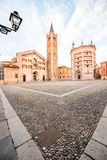 Parma central square Royalty Free Stock Photos