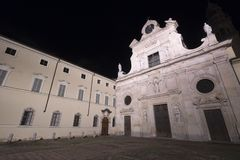 Parma Italy by night: church of San Giovanni Battista Stock Images