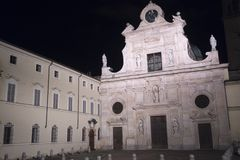 Parma Italy by night: church of San Giovanni Battista Royalty Free Stock Images