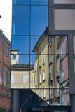 Parma Italy:  Cesare Battisti square, reflections Royalty Free Stock Photo