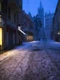 Parma entro la notte Fotografie Stock