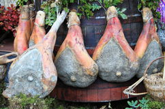 Parma Ham Hanging Stock Photo