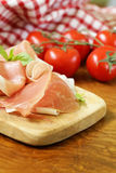 Parma ham (jamon) with fragrant herbs Royalty Free Stock Photography