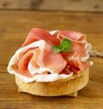 Parma ham (jamon) traditional Italian meat Royalty Free Stock Photography