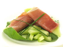 Parma ham and melon Stock Image