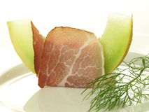 Parma ham with melon Stock Images