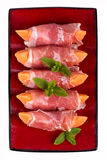 Parma ham and melon Stock Images