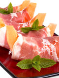 Parma ham and melon Royalty Free Stock Images
