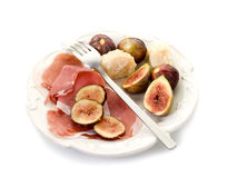 Parma ham, parmesan cheese Stock Image