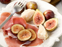 Parma ham, parmesan cheese Royalty Free Stock Photos