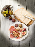 Parma ham, parmesan cheese Stock Photo