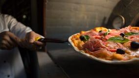 Parma ham pizza Royalty Free Stock Image