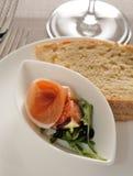Parma Ham Pomegrarate Bread Royalty-vrije Stock Afbeelding