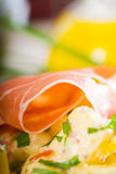 Parma ham and potato salad Royalty Free Stock Photo