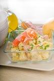 Parma ham and potato salad Stock Photos
