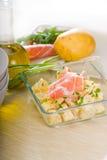 Parma ham and potato salad Stock Image