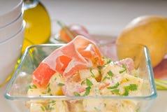Parma ham and potato salad Royalty Free Stock Photography
