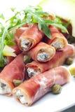 Parma ham rolls Stock Image