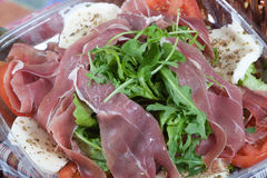 Parma ham salad Royalty Free Stock Image