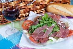 Parma Ham salad Stock Image