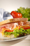 Parma ham  sandwich Stock Photos