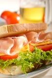 Parma ham  sandwich Royalty Free Stock Photography