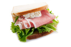 Parma ham sandwich royalty free stock images
